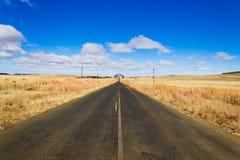 Estrada da perspectiva do estado livre alaranjado, África do Sul Fotos de Stock