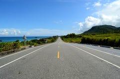 A estrada da praia Fotos de Stock Royalty Free