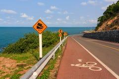 Estrada da praia foto de stock