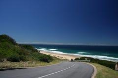 Estrada da praia Fotos de Stock Royalty Free