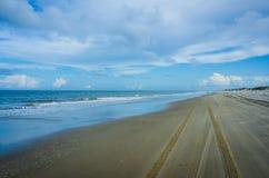Estrada da praia nos bancos exteriores Foto de Stock Royalty Free