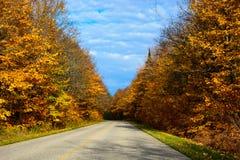 Estrada da queda no nacional representado das rochas Lakeshore, Munising, MI, E.U. Fotos de Stock Royalty Free