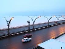 Estrada da velocidade no inverno Imagem de Stock Royalty Free