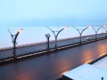Estrada da velocidade no inverno Fotografia de Stock Royalty Free