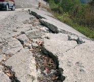 Estrada danificada Imagens de Stock Royalty Free