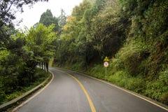 Estrada das montanhas Fotografia de Stock