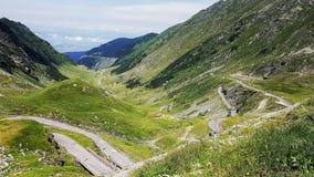 Estrada das montanhas foto de stock