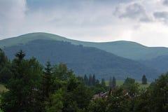 Estrada das montanhas Carpathian Fotografia de Stock
