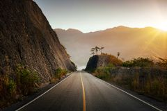 Estrada das montanhas em América Central. Foto de Stock