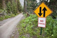 Estrada das montanhas 4WD de Colorado Imagens de Stock