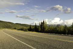 Estrada de Alaska Fotografia de Stock