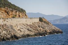 Estrada de Antalya Kas-Patara no meio Fotografia de Stock
