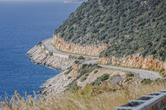 Estrada de Antalya Kas-Patara no meio Fotos de Stock Royalty Free
