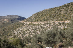 Estrada de Antalya Kas-Patara no meio Fotografia de Stock Royalty Free