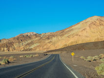 Estrada de Badwater Fotografia de Stock
