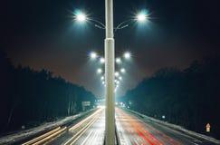 Estrada de Borispol da estrada de Kiev, Ucrânia Borispol perto de Kiev Imagens de Stock Royalty Free