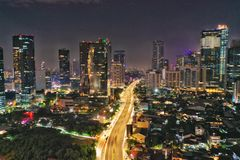 Estrada de Casablanca, sul jakarta, Indonésia fotos de stock royalty free