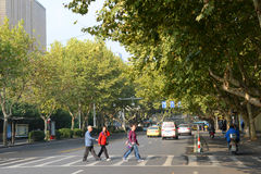Estrada de Changjiang, Nanjing, China Foto de Stock