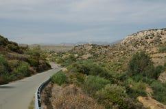 Estrada de Chipre Fotografia de Stock