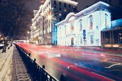 Estrada de cidade urbana Imagens de Stock Royalty Free