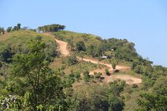 Estrada de Ciletuh foto de stock royalty free