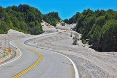 Estrada de enrolamento no Patagonia chileno Fotos de Stock Royalty Free