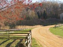 Estrada de exploração agrícola Fotografia de Stock