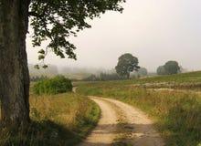 Estrada de exploração agrícola fotos de stock royalty free
