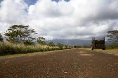 Estrada de exploração agrícola de Kauai, Havaí Fotografia de Stock