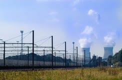 Estrada de ferro à energia nuclear Foto de Stock Royalty Free