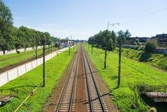 A estrada de ferro Imagem de Stock