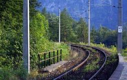 Estrada de ferro fotografia de stock royalty free