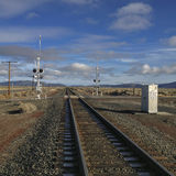 Estrada de ferro alta do deserto Imagem de Stock Royalty Free