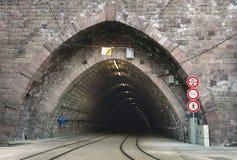 Estrada de ferro & túnel imagem de stock royalty free