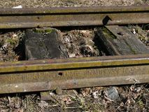 Estrada de ferro 1891 anos de fabricação Imagem de Stock Royalty Free