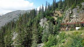 Estrada de ferro branca de Yukon da passagem Foto de Stock Royalty Free