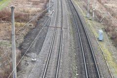 A estrada de ferro cerca a textura Foto de Stock