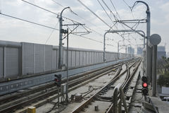 Estrada de ferro clara imagem de stock royalty free