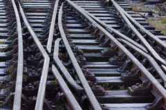 Estrada de ferro congelada Imagens de Stock