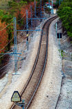 Estrada de ferro da curvatura de S Imagens de Stock Royalty Free