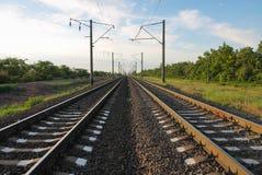 estrada de ferro da Dois-pista Imagem de Stock