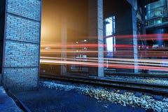 Estrada de ferro da fábrica Fotos de Stock