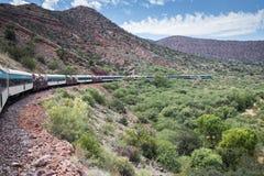 Estrada de ferro da garganta de Verde Imagens de Stock Royalty Free