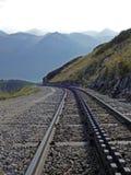 Estrada de ferro da montanha em Schafberg em Áustria perto de St Wolfgang, 2014 Foto de Stock Royalty Free