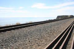 Estrada de ferro da praia Foto de Stock Royalty Free