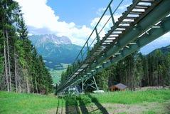 Estrada de ferro da roda denteada foto de stock royalty free