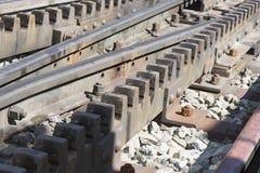 Estrada de ferro da roda denteada imagem de stock royalty free