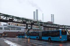 Estrada de ferro da suspensão de Wuppertal, Alemanha Foto de Stock Royalty Free