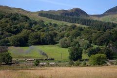 Estrada de ferro das montanhas de Galês Fotografia de Stock Royalty Free