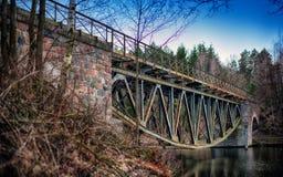 Estrada de ferro de aço imagens de stock
